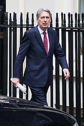 Downing Street, London, February 7th 2017. Chancellor of the Exchequer Philip Hammond arrives in Downing Street for the weekly UK cabinet meeting.