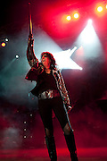 Alice Cooper performing at the Lifestyles Community Pavilion in Columbus, Ohio on August 17, 2011