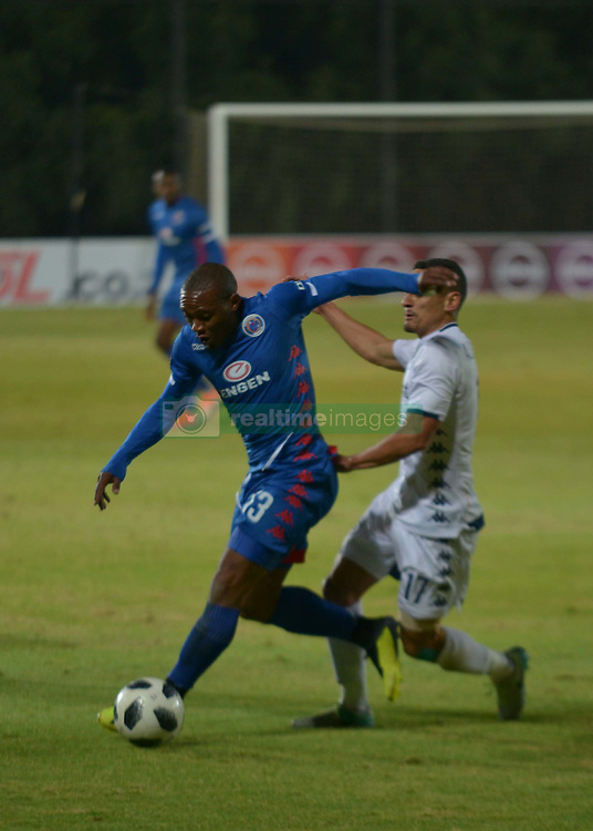 The ABSA Premiership match that took place at the Bidvest Wits stadium on Saturday night between Bidvest  Wits F.C.  and Supersport United F.C. up to Half time. SS UNT Sfiso Hlanti 13 and Wits Cole Alexander 17<br /> Picture: Timothy Bernard African News Agency/ANA