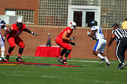 17 September 2016:  Kyle Avaloy and Dan Pawlek.  NCAA FCS Football game between Eastern Illinois Panthers and Illinois State Redbirds for the 105th Mid-America Classic on Family Dat at Hancock Stadium in Normal IL (Photo by Alan Look)