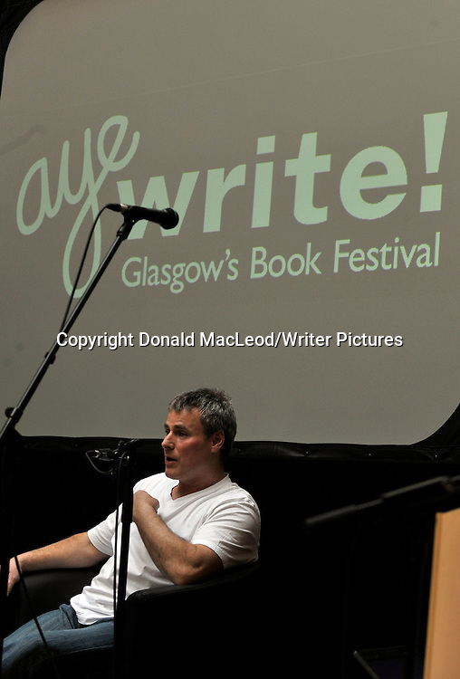 Glasgow Aye Write! Festival - Coatbridge born writer playwright and stand-up comedian Des Dillon used his Aye Write! Authors Event to discuss his new book An Experiment in Compassion which explores the emotional word of alcoholism.