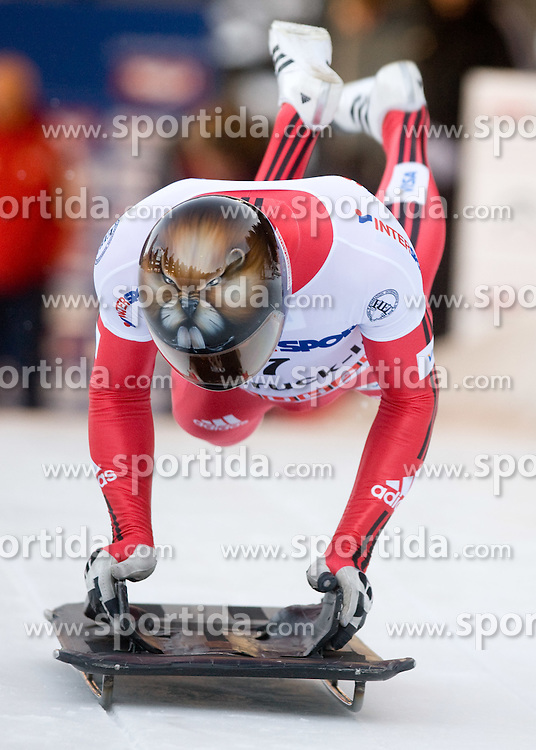 Jeff Pain of Canada competes during 1st Run of FIBT Bob & Skeleton World Cup Innsbruck-Igls race on January 23, 2009 in Igls, Innsbruck, Austria. (Photo by Vid Ponikvar / Sportida)