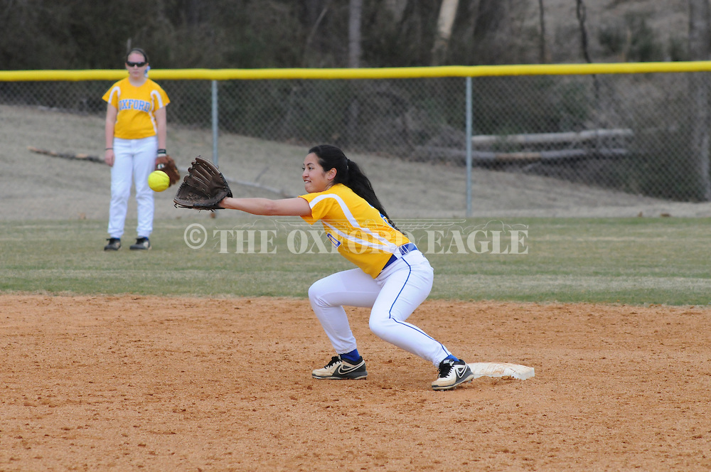 Oxford High vs. Olive Branch in girls high school softball in Oxford, Miss. on Saturday, March 1, 2014. Olive Branch won.
