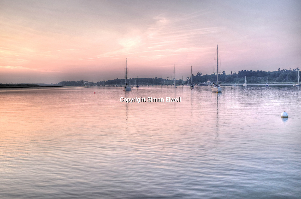 Evening light on the River Deben at Ramsholt
