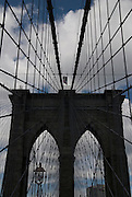 The Brooklyn Bridge is one of many iconic landmarks in New York City.