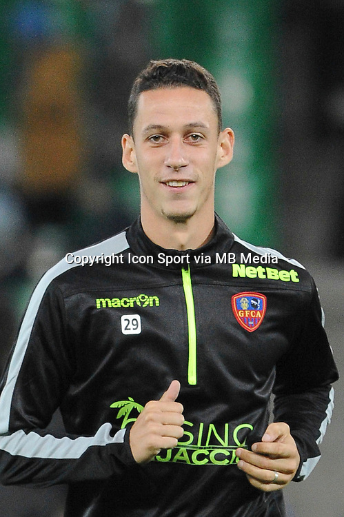 Alexandre COEFF - 17.10.2015 - Saint Etienne / Gazelec Ajaccio - 10eme journee de Ligue1<br /> Photo : Jean Paul Thomas / Icon Sport