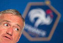 31.05.2016, Alpenstadion, Neustift, AUT, UEFA Euro, Frankreich, Vorbereitung Frankreich, Pressekonferenz, im Bild Trainer Didier Deschamps (FRA) // French national team Coach Didier Deschamps during a Pressconference at the Trainingscamp of Team France for Preparation of the UEFA Euro 2016 France at the Alpenstadion in Neustift, Austria on 2016/05/31. EXPA Pictures © 2016, PhotoCredit: EXPA/ Jakob Gruber