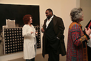 Lisa Superville and Clive Rowe, Other,Riyas Komu and Peter Drake. - VIP  launch of Aicon. London's largest contemporary Indian art gallery. Heddon st. and afterwards ant Momo.15 Marc h 2007.  -DO NOT ARCHIVE-© Copyright Photograph by Dafydd Jones. 248 Clapham Rd. London SW9 0PZ. Tel 0207 820 0771. www.dafjones.com.