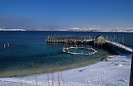salmon farm . Fjords around Alta city  Lapland  Norway        elevage de saumon ferme. Fjords enneigés autour de Alta   Laponie,   Norvege       L0007575  /  R00330  /  P111301