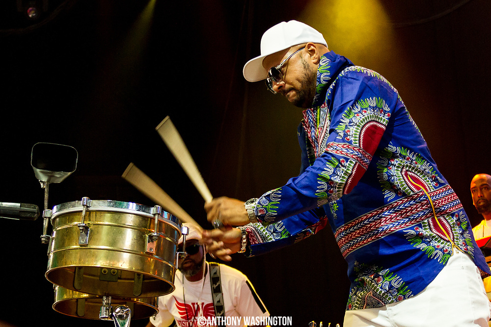 Whop of the band Wisdom Speeks performs during the Summer Spirit Festival at Merriweather Post Pavilion in Columbia, Md on Saturday, August 5, 2017.