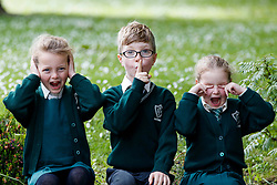 Repro Free: 07/06/2017 Aoibheann Clancy (7), Michael O' Neill (7) and Emma Lidierth (7)<br /> pupils of St. Vincent de Paul Infant School, Griffith Avenue, Dublin are pictured as safefood launch a new free educational resource to help teach primary schoolchildren about the media, advertising and fake news. The launch was also attended by the Minister for Education and Skills, Richard Bruton T.D.. Picture Andres Poveda<br /> <br /> ENDS<br /> Media contact <br /> Emma Walsh, T: 087 317 0897 or E: emma.walsh@ogilvy.com