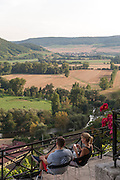 Blick ins Saale-Tal, Dornburger Schlösser, Dornburg, Thüringen, Deutschland | view into Saale valley from Dornburg castles, Dornburg, Thuringia, Germany