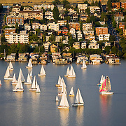 Duck Dodge sailing race on Lake Union, Seattle, Washington
