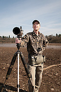 An avid birder and award-winning photographer, Steve Berliner uses a combination of a birding scope and pocket camera to capture his subjects.