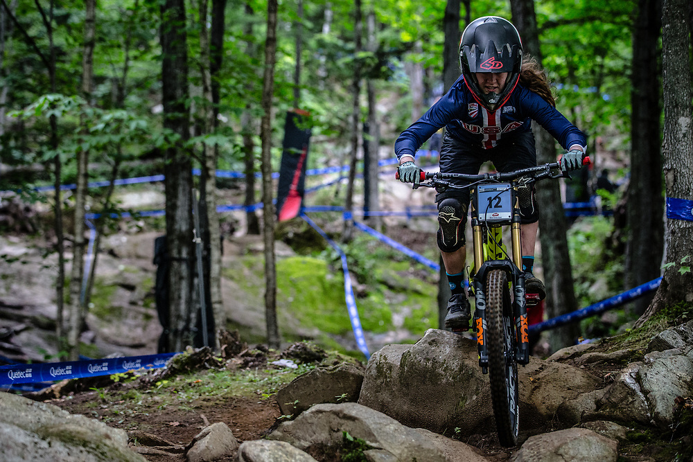 PARHAM Autumn (USA) at the Mountain Bike World Championships in Mont-Sainte-Anne, Canada.