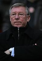 Photo: Paul Thomas.<br /> Manchester United v Aston Villa. The FA Cup. 07/01/2007.<br /> <br /> Sir Alex Ferguson, Utd manager.