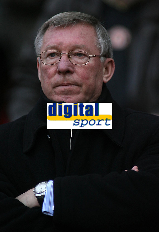Photo: Paul Thomas.<br /> Manchester United v Aston Villa. The FA Cup. 07/01/2007.<br /> <br /> Sir Alex Ferguson, Utd manager.