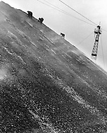 Coal searchers on slagheap near Henworth, 1937
