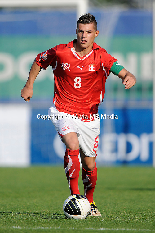 Granit Xhaka of Switzerland called up for the first time to the national team playing for the U19 team