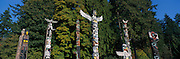 Totem Poles, Stanley Park, Vancouver, British Columbia, Canada<br />