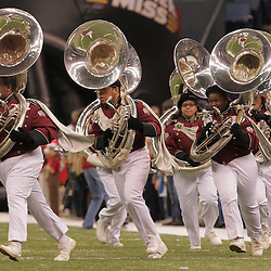 21 December 2008:  The Troy band performs during pregame of the  R+L Carriers New Orleans Bowl between Southern Miss and Troy at the New Orleans Superdome in New Orleans, LA.