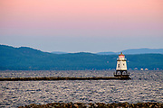 Burlington Breakwater North Lighthouse, Lake Champlain, Vermont, USA