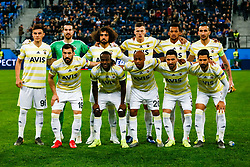 February 21, 2019 - Saint Petersburg, Russia - Fenerbahce SK players pose for a photo during the UEFA Europa League Round of 32 second leg match between FC Zenit Saint Petersburg and Fenerbahce SK on February 21, 2019 at Saint Petersburg Stadium in Saint Petersburg, Russia. (Credit Image: © Mike Kireev/NurPhoto via ZUMA Press)