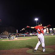 A batter in the batters box during the Rochester Red Wings V The Scranton/Wilkes-Barre RailRiders, Minor League ball game at Frontier Field, Rochester, New York State. USA. 16th April 2013. Photo Tim Clayton