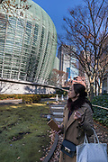 Tokyo, Japan, December 11 2017 - Tokyo, Japan, December 11 2017 - The National Art Center Tokyo, designed by Kisho KUROKAWA.