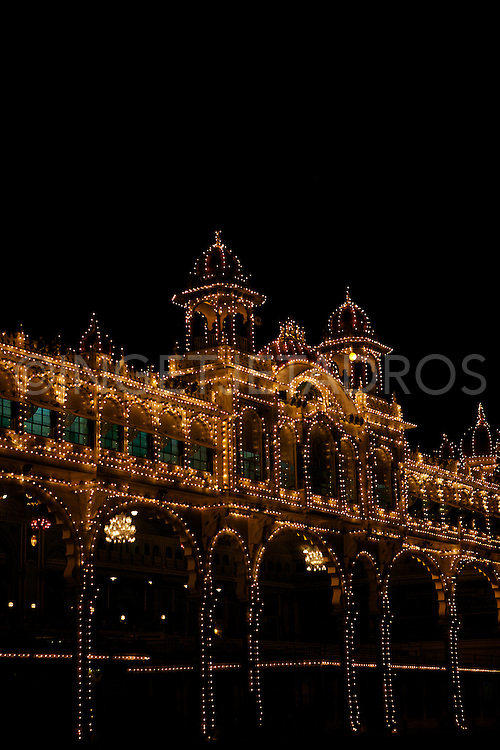 The Palace illuminated with 96000 lights.<br />