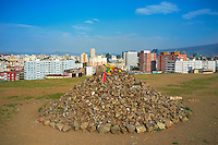 Mongolie, Oulan Bator, vue generale depuis le Tasgany Ovoo // Mongolia, Ulan Bator, Cityscape from Tasgany Ovoo