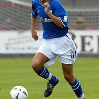 Brechin v St Johnstone....Pre-season friendly..17.07.04<br />Lee Hardy<br /><br />Picture by Graeme Hart.<br />Copyright Perthshire Picture Agency<br />Tel: 01738 623350  Mobile: 07990 594431