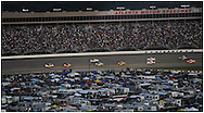 Hampton: Cars come into turn four to start  the AdvoCare 500 at the  Atlanta Motor Speedway in Hampton on Sunday, September 2, 2012. ©2012 Johnny Crawford