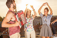 Party, Accordion, Playing, Dancing, Happiness,