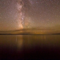 Milky Way over Yellowstone National Park.