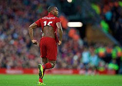 LIVERPOOL, ENGLAND - Sunday, October 7, 2018: Liverpool's Daniel Sturridge takes off an under shirt during the FA Premier League match between Liverpool FC and Manchester City FC at Anfield. (Pic by David Rawcliffe/Propaganda)
