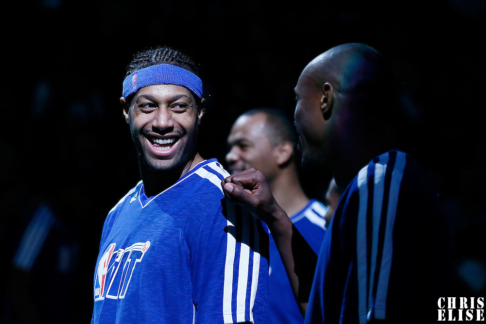 30 January 2013: Sacramento Kings power forward James Johnson (52) is seen during the players introduction prior to the Boston Celtics 99-81 victory over the Sacramento Kings at the TD Garden, Boston, Massachusetts, USA.