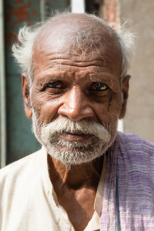 Portrait of Indian man in Chandni Chowk, Old Delhi