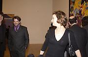 Martin Maloney and Fiona Rae. Turner Prize. Tate Gallery. 8 December 2002. © Copyright Photograph by Dafydd Jones 66 Stockwell Park Rd. London SW9 0DA Tel 020 7733 0108 www.dafjones.com