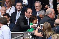 Francois HOLLANDE  - 13.06.2015 - Clermont / Stade Francais - Finale Top 14<br />Photo : Nolwenn Le Gouic / Icon Sport