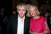 NICK RHODES; JANE PROCTER, Dylan Jones hosts a party for Brett Easton Ellis and his new book.- Imperial Bedrooms. Mark's Club. London. 15 July 2010.  -DO NOT ARCHIVE-© Copyright Photograph by Dafydd Jones. 248 Clapham Rd. London SW9 0PZ. Tel 0207 820 0771. www.dafjones.com.