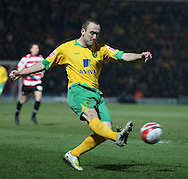 Doncaster - Friday January 30th 2009: Lee Croft of Norwich City lets fly with  a first half effort during the Coca Cola Championship Match at The Keepmoat Stadium Doncaster. (Pic by Steven Price/Focus Images)