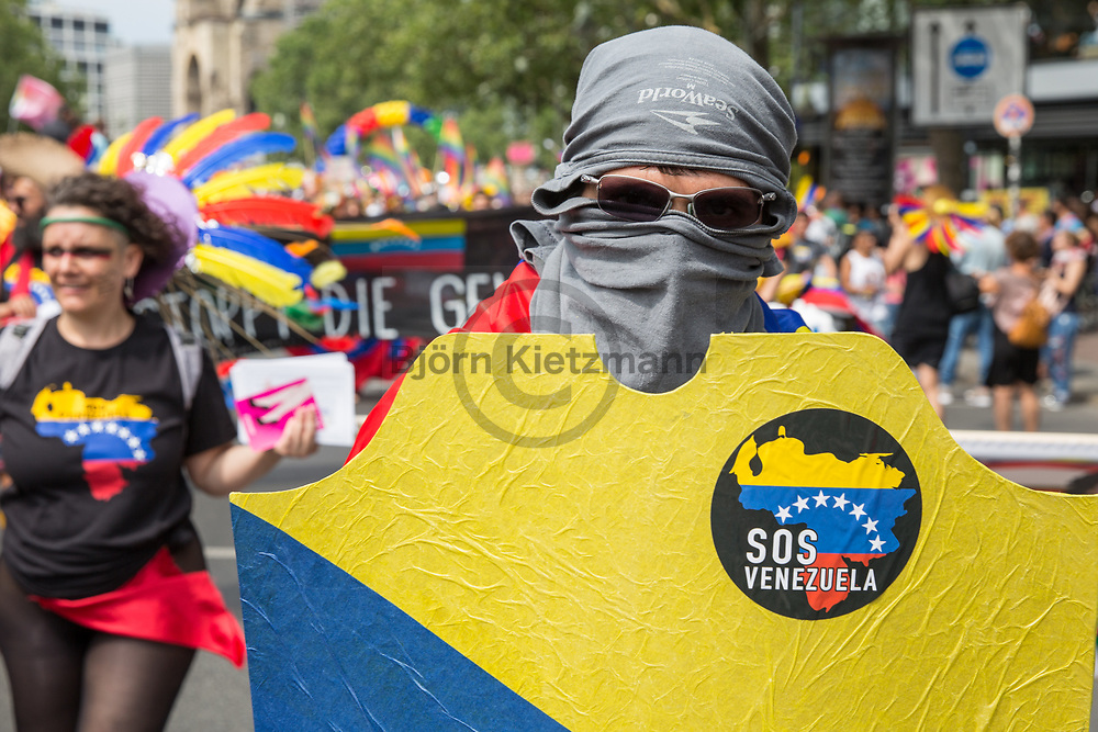 Berlin, Germany - 22.07.2017<br /> <br /> Christopher Street Day 2017 in Berlin. Hundreds of thousands of people protesting and celebrating the Berlin Pride<br /> <br /> Christopher Street Day 2017 in Berlin. Hunderttausende Menschen protestieren und feiern bei der Berlin Pride unter Motto &bdquo;Mehr von uns &ndash; jede Stimme gegen Rechts!&ldquo;<br /> <br /> Photo: Bjoern Kietzmann