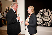 PHILIP MARSDEN; ANYA HINDMARCH, Royal Academy of Arts Annual dinner. Royal Academy. Piccadilly. London. 1 June <br /> <br />  , -DO NOT ARCHIVE-© Copyright Photograph by Dafydd Jones. 248 Clapham Rd. London SW9 0PZ. Tel 0207 820 0771. www.dafjones.com.