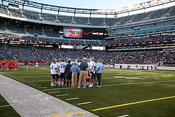 10 April 2010: North Carolina Tar Heels  before playing the Virginia Cavaliers at the New Meadowlands Stadium in the Meadowlands, NJ.