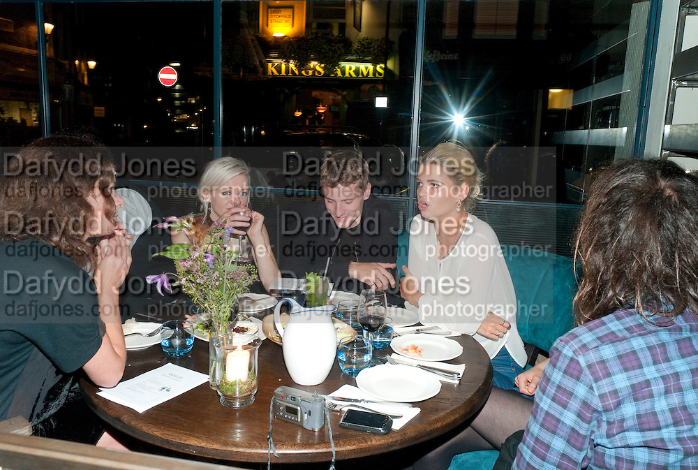 PIXIE GELDOF; , Leaving dinner for Kate Phelan given by Alex Shulman and Mary Homer. Riding House Cafe. Great Titchfield st. London. 20 September 2011. <br /> <br />  , -DO NOT ARCHIVE-&copy; Copyright Photograph by Dafydd Jones. 248 Clapham Rd. London SW9 0PZ. Tel 0207 820 0771. www.dafjones.com.