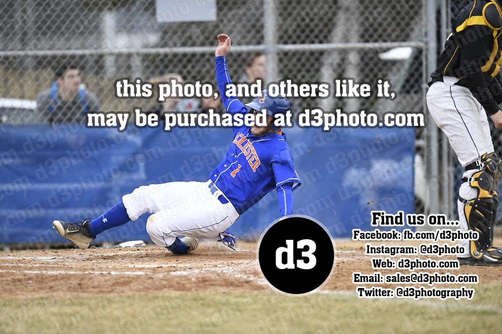 2017 - Macalester College Baseball hosts University of Wisconsin Superior.<br /> <br />  -- Copyright Christopher Mitchell / SportShotPhoto.com