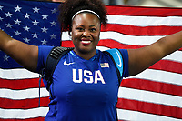 Michelle Carter of United States competes and wins in Women's Shot Put during the Olympic Games RIO 2016, Athletics, on August 12, 2016, in Rio, Brazil - Photo Jean Marie Hervio / KMSP / DPPI