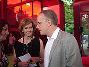 JULIA PEYTON-JONES; HANS ULRICH OBRIST, Serpentine Pavilion private view. Kensington Gardens. London. 12 September 2010. -DO NOT ARCHIVE-© Copyright Photograph by Dafydd Jones. 248 Clapham Rd. London SW9 0PZ. Tel 0207 820 0771. www.dafjones.com.