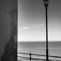 Seaside old lampost